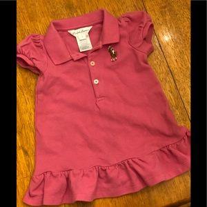 EUC Ralph Lauren pink polo dress 3 months
